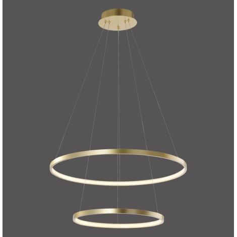 Leuchten Direkt 11525-12 -LED Csillár zsinóron CIRCLE 1xLED/18,5W/230V + LED/23,5W