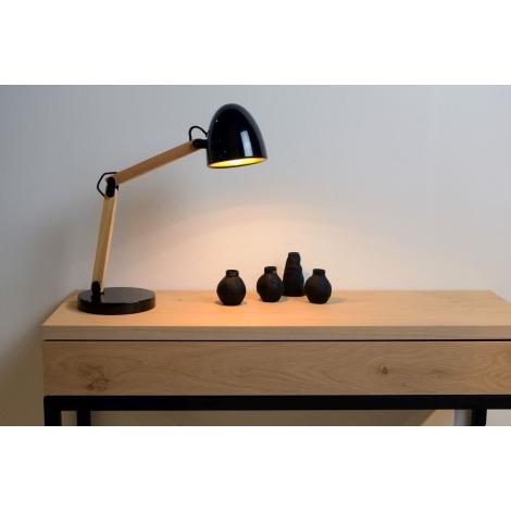 Lucide 05617/01/30 - Asztali lámpa BENJY 1xE14/40W/230V fekete