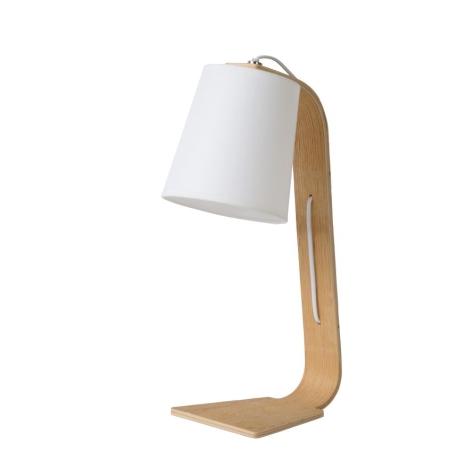 Lucide 06502/81/31 - Asztali lámpa NORDIC 1xE14/40W/230V fehér