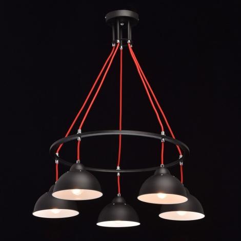 MW-LIGHT - Csillár zsinóron LOFT 5xE27/40W/230V