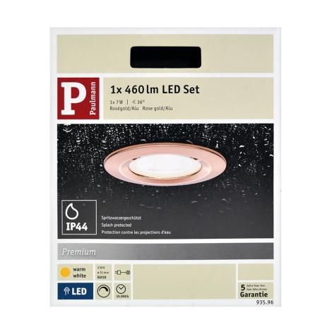 Paulmann 93596 - LED-GU10/7W IP44 Fürdőszobai beépíthető lámpa NOVA 230V