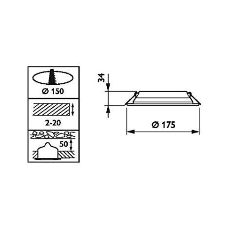 Philips DN065B LED10S/840 PSU II WH - LED Beépíthető lámpa LED/11W/230V 4000K