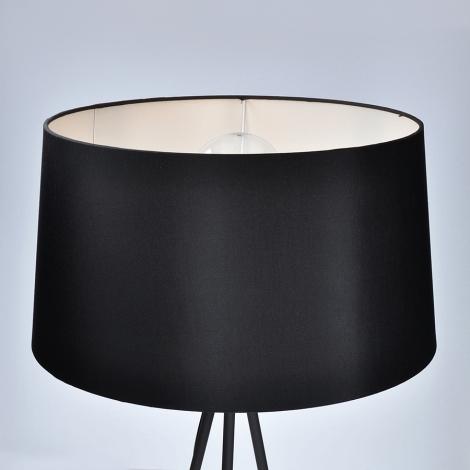 LED Állólámpa 1xE27/10W/230V fekete 145cm