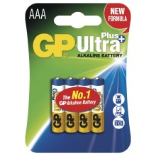 4 db alkáli elem AAA GP ULTRA PLUS 1,5V