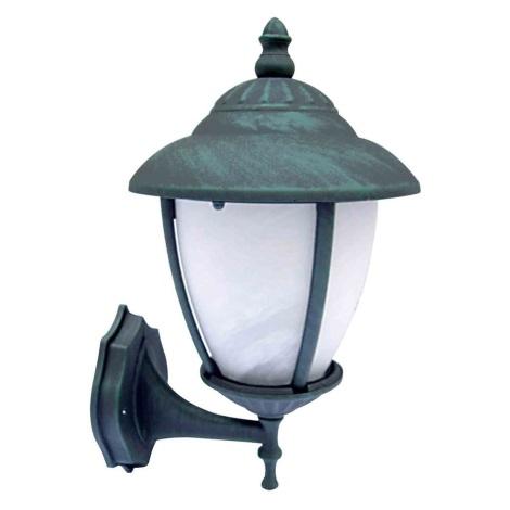 ANCONA N kültéri fali lámpa, zöld 1xE27/60W