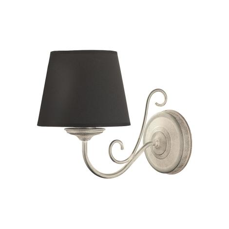 ARKADA fali lámpa 1xE27/60W fekete/patinás ezüst