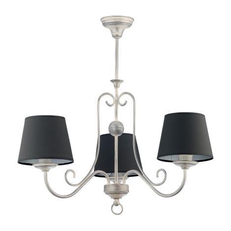 ARKADA függeszték 3xE27/60W fekete/patinás ezüst