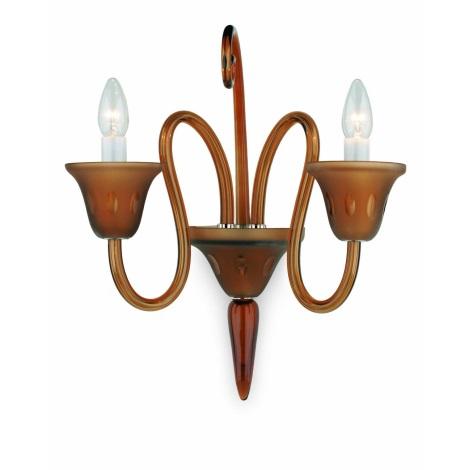 Artcrystal Pl030 - SMOOKY fali lámpa 2xE14/40W