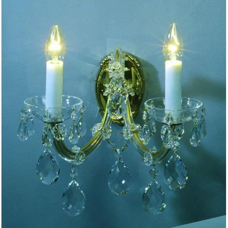 Artcrystal PL042 - Fali lámpa 2xE14/40W