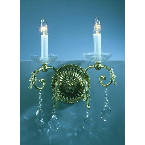 Artcrystal PL089 - Fali lámpa 2xE14/40W