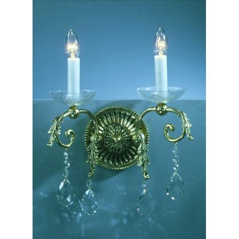 Artcrystal PWL501000002 - Fali lámpa 2xE14/40W