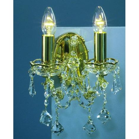 Artcrystal PWM525600002 - Fali lámpa 2xE14/40W