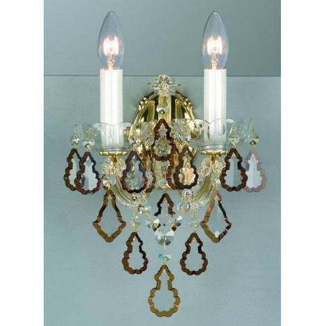 Artcrystal PWM530002002 - Fali lámpa 2xE14/40W