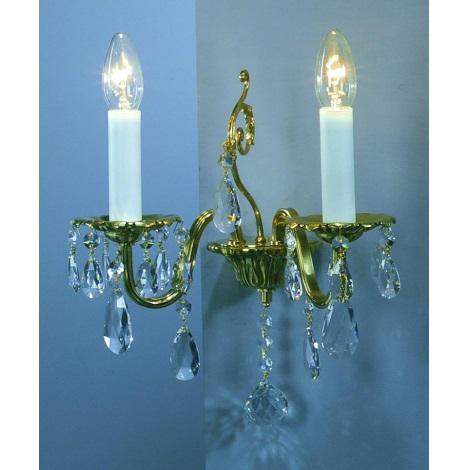 Artcrystal PWR514700002 - Fali lámpa 2xE14/40W