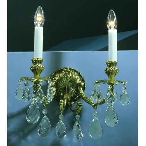 Artcrystal PWR534500002 - Fali lámpa 2xE14/40W