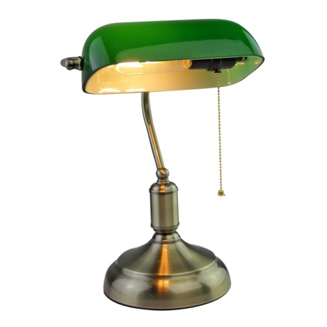 Asztali lámpa BANKER 1xE27/60W/230V