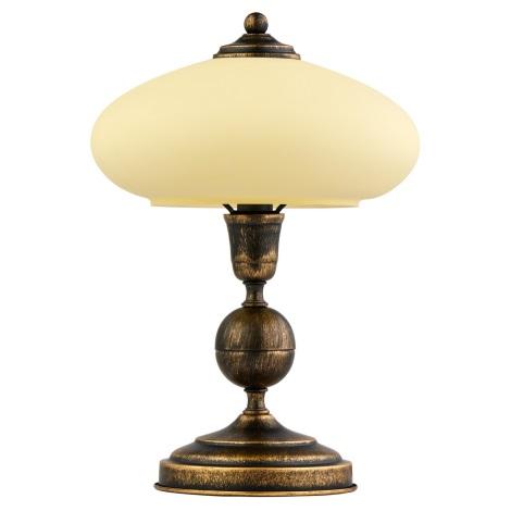 Asztali lámpa  BOLERO 1xE14/40W patina