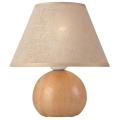 Asztali lámpa JUTA 1xE27 / 60W / 230V tölgy / bézs