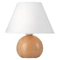 Asztali lámpa JUTA 1xE27 / 60W / 230V tölgy / fehér