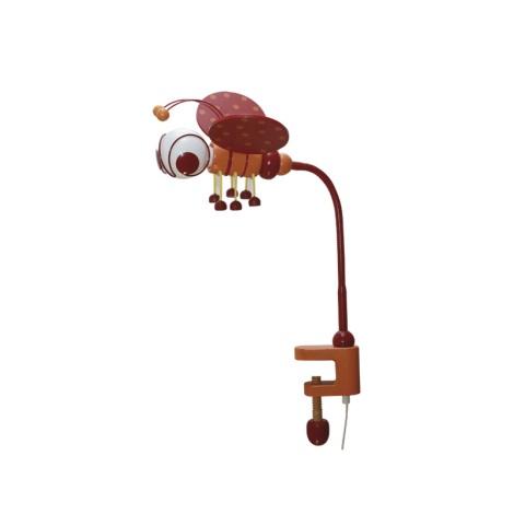Asztali lámpa MÉHECSKE 1xE27/60W/230V piros/narancssárga