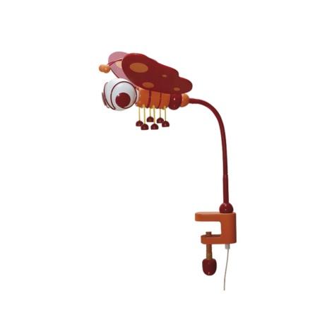 Asztali lámpa PILLANGÓ piros/narancssárga