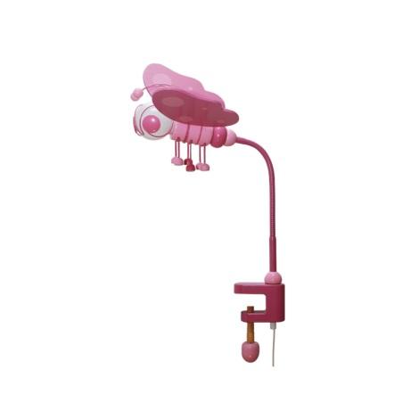 Asztali lámpa PILLANGÓ rózsaszín