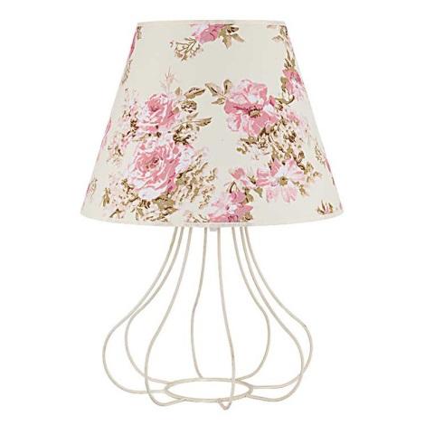 Asztali lámpa VIOLIN 1xE27/40W/230V 490 mm rózsa