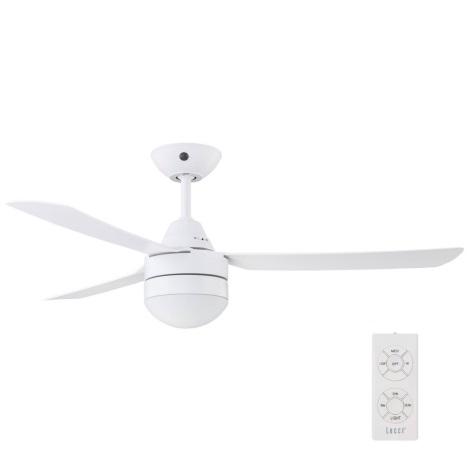 BAYSIDE 531016 – Mennyezeti Ventilátor MEGARA 2×E14/15W/230V Fehér + távirányító