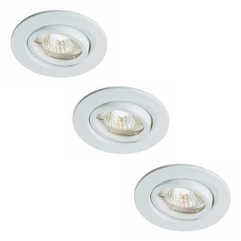 Bright Light 72811/83/31 - Készlet 3x fürdőszobai beépíthető lámpa 3xGU5,3/20W/230V