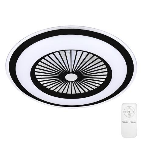 Brilagi - LED Dimmelhető lámpa ventilátorral RONDA LED/65W/230V 3000-6500K fekete