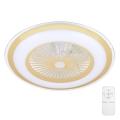 Brilagi - LED Dimmelhető mennyezeti lámpa ventilátorral RONDA LED/65W/230V 3000-6500K arany