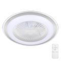Brilagi - LED Dimmelhető mennyezeti lámpa ventilátorral RONDA LED/65W/230V 3000-6500K ezüst