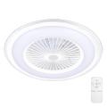 Brilagi - LED Dimmelhető mennyezeti lámpa ventilátorral RONDA LED/65W/230V 3000-6500K fehér