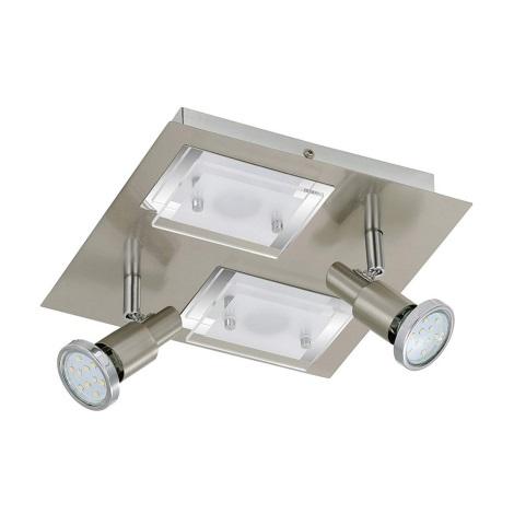 Briloner 2879-042 - LED Mennyezeti lámpa COMBINATA 2xGU10/3W + 2xLED/5W/230V