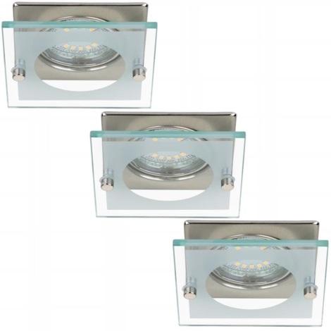 Briloner 7202-032 - KÉSZLET 3x LED Fürdőszobai beépíthető lámpa ATTACH 3xGU10/4W/230V
