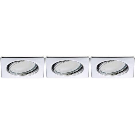 Briloner 7213-038 - KÉSZLET 3xLED Fürdőszobai lámpa ATTACH 3xGU10/3W/230V