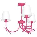 Csillár KOKARDKA 3xE14/60W/230V sötét rózsaszín