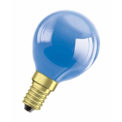 DECOR P BLUE dekorációs izzó E14/11W