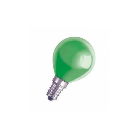 DECOR P GREEN dekorációs izzó E14/11W