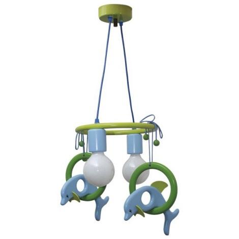 DELFIN függesztékes csillár kék/zöld