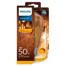 Dimmelhető LED Izzó Philips E27/8W/230V 2000K