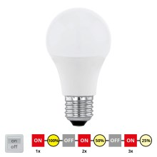 EGLO 11561 - LED Izzó E27/10W/230V - STEPDIMMING