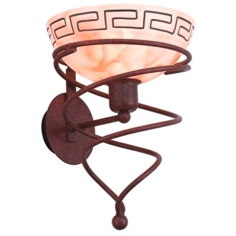 EGLO 13321 - OLYMP 1 fali lámpa 1xE27/60W antik barna