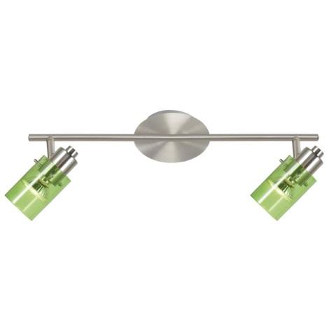 Eglo 22072 - Mennyezeti spotlámpa STOMP 1 2xGU10/50W zöld