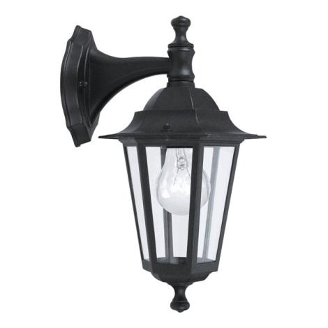 EGLO 22467 - LATERNA 4 kültéri fali lámpa 1xE27/60W fekete