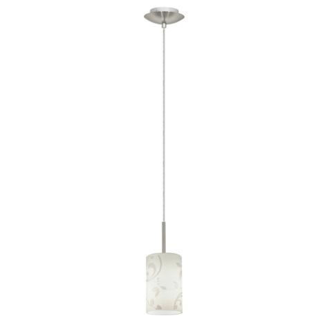 EGLO 22657 - TROY FLOWER csillár 1xE27/11W matt króm/fehér