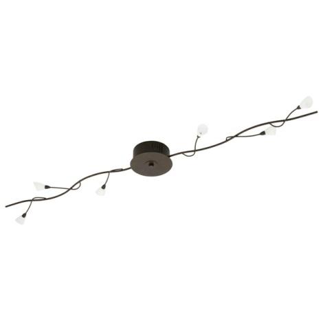 EGLO 22829 - PAULETTA mennyezeti lámpa  6xG4/20W antik barna/fehér