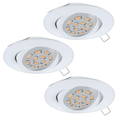 Eglo 31683 - Készlet 3x LED Beépíthető lámpa TEDO 3xGU10-LED/5W/230V