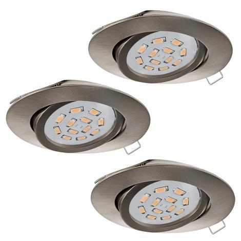 Eglo 31689 - SET 3x LED Beépíthető lámpa TEDO 3xGU10-LED/5W/230V