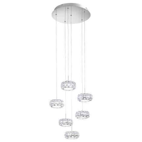 Eglo 39008 - LED függesztékes lámpa Corliano 6xLED/5W/230V
